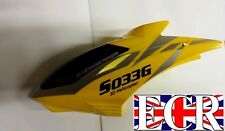 YELLOW CANOPY HEAD COVER SYMA S033  S033G RC HELICOPTER SPARES PARTS