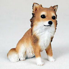 Chihuahua Hand Painted Dog Figurine Statue Long