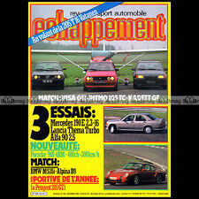 ECHAPPEMENT N°194 MERCEDES 190 E 2.3-16 MATRA DJET ALPINA B9 205 TURBO 16 1984
