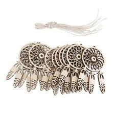 10 Wood dream catcher Shape Hanging Ornament Decor Decoupage Scrapbooking
