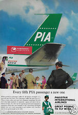 PIA PAKISTAN INTERNATIONAL AIRLINES 1965 720B EVERY 5TH PASSENGER IS NEW ONE AD