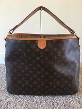 AUTHENTIC Louis Vuitton Monogram Canvas Delightful Mm Handbag Hobo Shoulder Bag