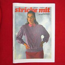 stricke mit 09/89 Nachdruck Zeitschrift Apparatestrickerei - Tips Strickmaschine