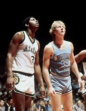 Larry Bird Magic Johnson Photo Print Poster Glossy Lakers Celtics 8.5 11 inches