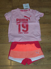 New STYLE MINICATS SET Girls  Puma T Shirt / Shorts set  Age 9-12 Months