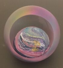 GES Glass Eye Studio Art Glass Celestial Heavy Paperweight Planet Venus 03