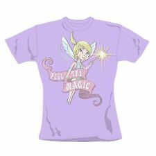 Ladies T-Shirt Retro Tinkerbell American Feel The Magic Skinny Fit Size Large