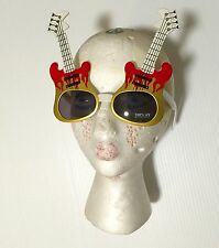 Guitar Shaped Sun Glasses Rock'n Roll Star Rockabilly Accessory Bowie Punk NWT
