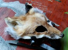 Custom Real Fox Mask - Your Choice of Color - Totem Dance Costume