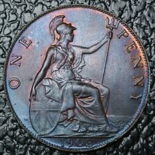 1903 GREAT BRITAIN - ONE PENNY - Edward VII - Gorgeous Colour