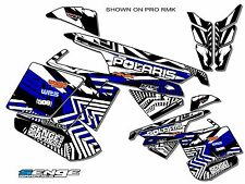 2010 2011 2012 2013 2014 POLARIS RUSH GRAPHICS KIT DECO WRAP DECOR BLUE