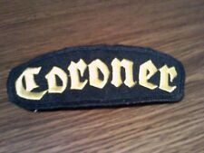 CORONER,SEW ON YELLOW EMBROIDERED PATCH