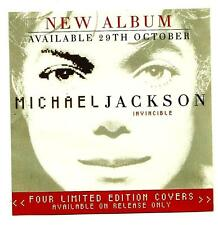 "ORIGINAL AUSTRALIAN MICHAEL JACKSON PROMO FLYER / MINI POSTER ""INVINCIBLE"""