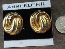 New Original Card Old Stock ANNE KLEIN Goldtone Polished Pierced Earrings #4