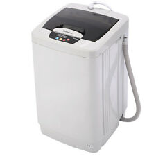 Small Fully Automatic Portable Washing Machine 12 LBS Spin Single Tube Compact
