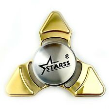 Tri Spinner Fidget Hand Toy Bronze Metal Stainless Steel Bearing 4+ Min Spin