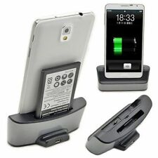Spare Battery Dual Charger Dock Cradle For Samsung Galaxy Note 3 N9000 N9005