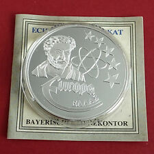 GREECE 1997 EUROPE COMMEMORATIVE 40mm .999 FINE SILVER PROOF MEDAL - coa