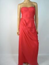 Aidan Mattox Crinkle Pink Chiffon Beaded Sequin Ruched Formal Gown 8 NEW A709