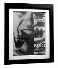 PETER GABRIEL+Biko+POSTER+AD+RARE+ORIG 1980+QUALITY FRAMED+EXPRESS GLOBAL SHIP