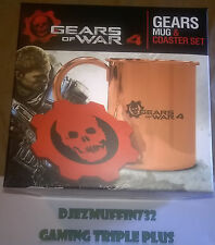GEARS OF WAR 4 COPPER MUG + COASTER SET (LIMITED EDITION) NO GAME