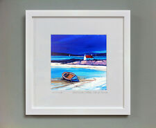 FRASER MILNE 'RED ROOF COTTAGE ISLE OF BARRA' FRAMED SIGNED PRINT