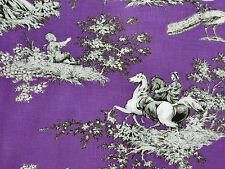 Französische Landhaus Nostalgie Retro Stoffe 25 x 1,45 Ökotex 100 BW lila grau