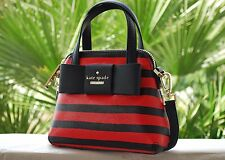 NWT Kate Spade Crossbody Julia Street Stripe Mini Maise Bag in Rich Navy