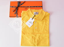 NEW HERMES 40% OFF MENS SPORTS JAUNE YELLOW POLO SHIRT XL XLARGE SWEATER TOP