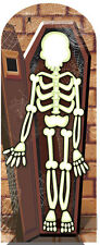 Skeleton in Crypt Halloween LIFESIZE CARDBOARD STAND-IN CUTOUT standee standup