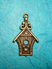 Pendant Bird House Charm Bronze Bird Audubon Society Birdhouse Charm Animal Wing