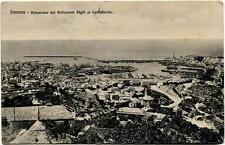 1914 Genova - Panorama dal Ristorante Righi Castellaccio - FP B/N VG