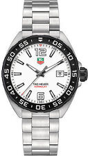 Tag Heuer Formula 1 41mm White Dial Black Bezel Men's Steel Watch WAZ1111.BA0875