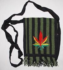 New Fair Trade Cotton Passport Bag - Hippy Hippie Ethical Ethnic Leaf