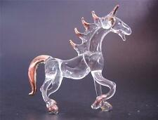 Glass HORSE, Trotting Pony, Figurine, Painted Ornament, Blown Glass Animal, Gift