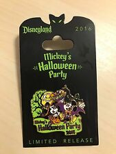 Disneyland 2016 Mickey's Halloween Party Mickey & Minnie Limited Release Pin