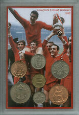 Liverpool Vintage Ron Yeats Ian St John F.A Cup Final Winners Coin Gift Set 1965