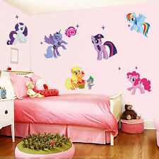 My little pony 6 ponies removal wall decoration sticker for girls kid room