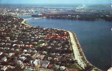 1958 AIR VIEW OF TAMPA, FL. WITH DAVIS ISLAND IN BACKGROUND photo by H W Hannau