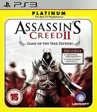 Assassins Creed II: Game of The Year - Platinum Edition (PS3), New Condition Pla