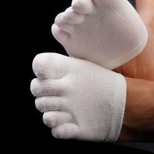 Footful White Plain Five Separate Finger Toe Socks Forefoot Support Unisex