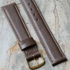 Brown padded vintage watch band Norwegian Calfskin 1950s/60s 17.3mm 11/16 ends