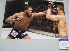 JON 'BONES' JONES Hand Signed HUGE 12'x18' Photo + PSA DNA COA K16272