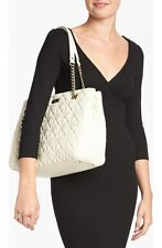 Kate Spade $478 Phoebe Sedgewick Place Purse Pale Cream Quilted leather large