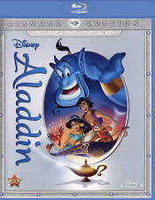 Disney Arabian Animated Classic Aladdin Blu-ray DVD Digital Copy with Slipcover