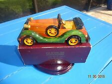 Antique Wooden Car The Woody Quorum Cologne Original Vintage Toy Collectible Car