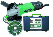 "HEAVY DUTY HITACHI G12SS 580W 4.5"" 115MM 240V ANGLE GRINDER & DISC + CASE NEW"