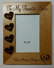 Personalized Laser Engraved 4x6 frame from baby to favorite nurse Gift
