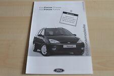 119612) Ford Focus Finesse + Futura - Preise & Extras - Prospekt 09/2001
