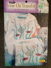 Iron-On Transfers by Tulip - Tropical Fish - For Fabric Painting